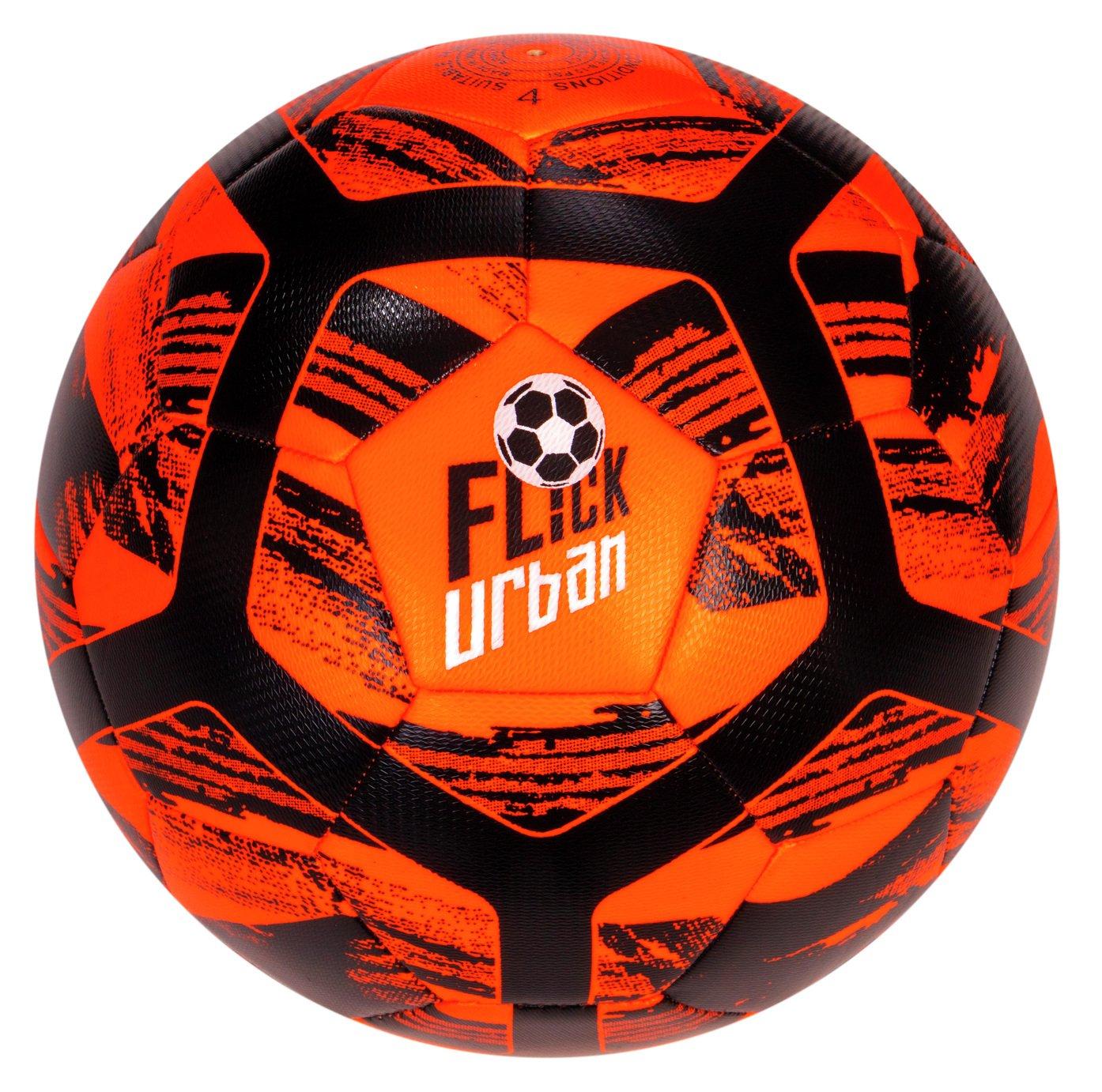Football Flick Urban Size 4 Football - Orange and Black