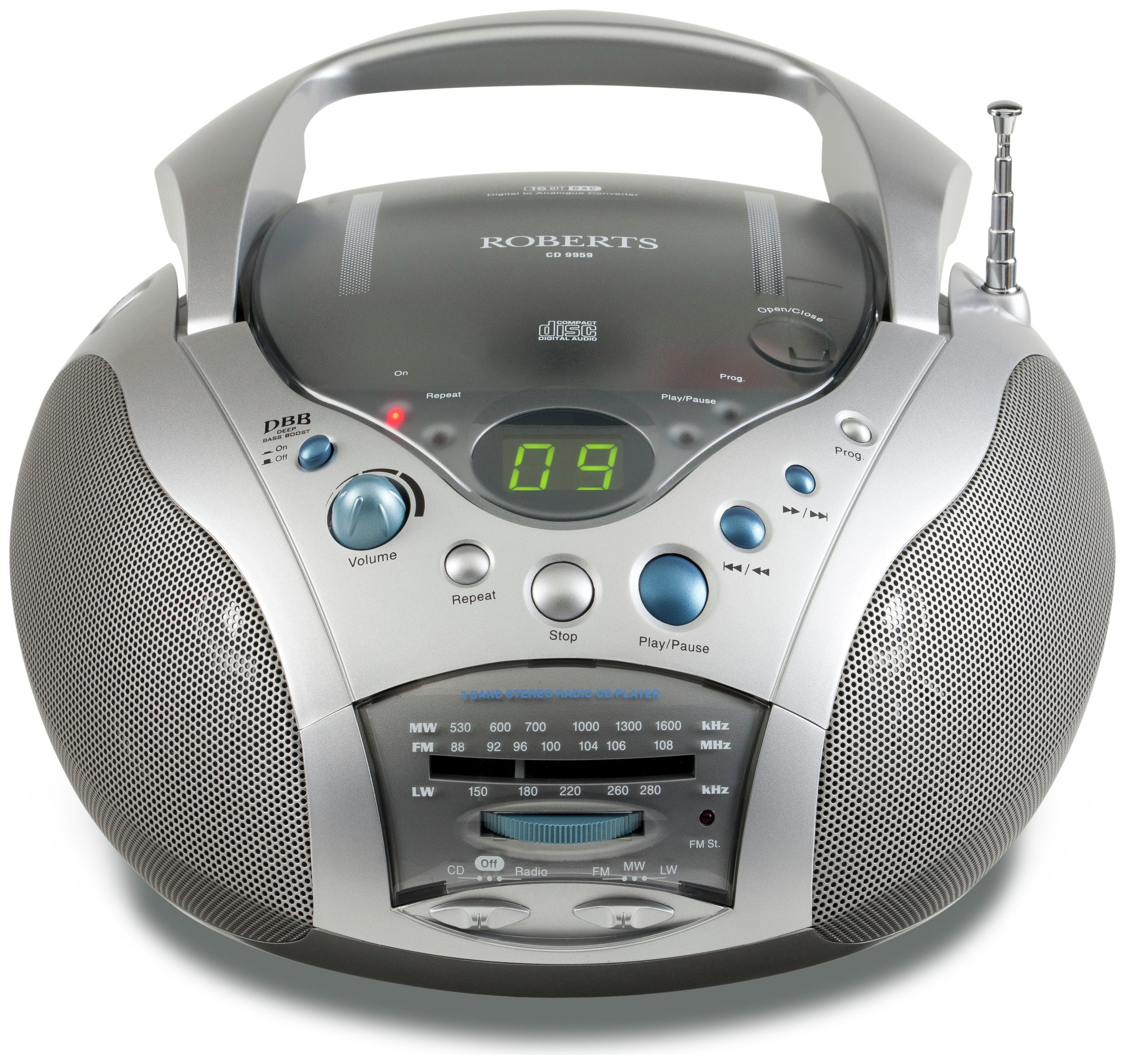 Roberts - CD9959 Swallow CD Player - Silver