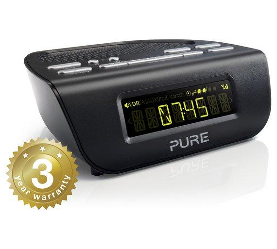 buy pure siesta mi series 2 dab fm alarm clock radio black at your online shop. Black Bedroom Furniture Sets. Home Design Ideas