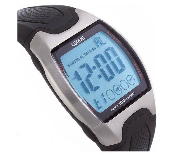 buy lorus men s large display digital sports watch at argos co uk loading