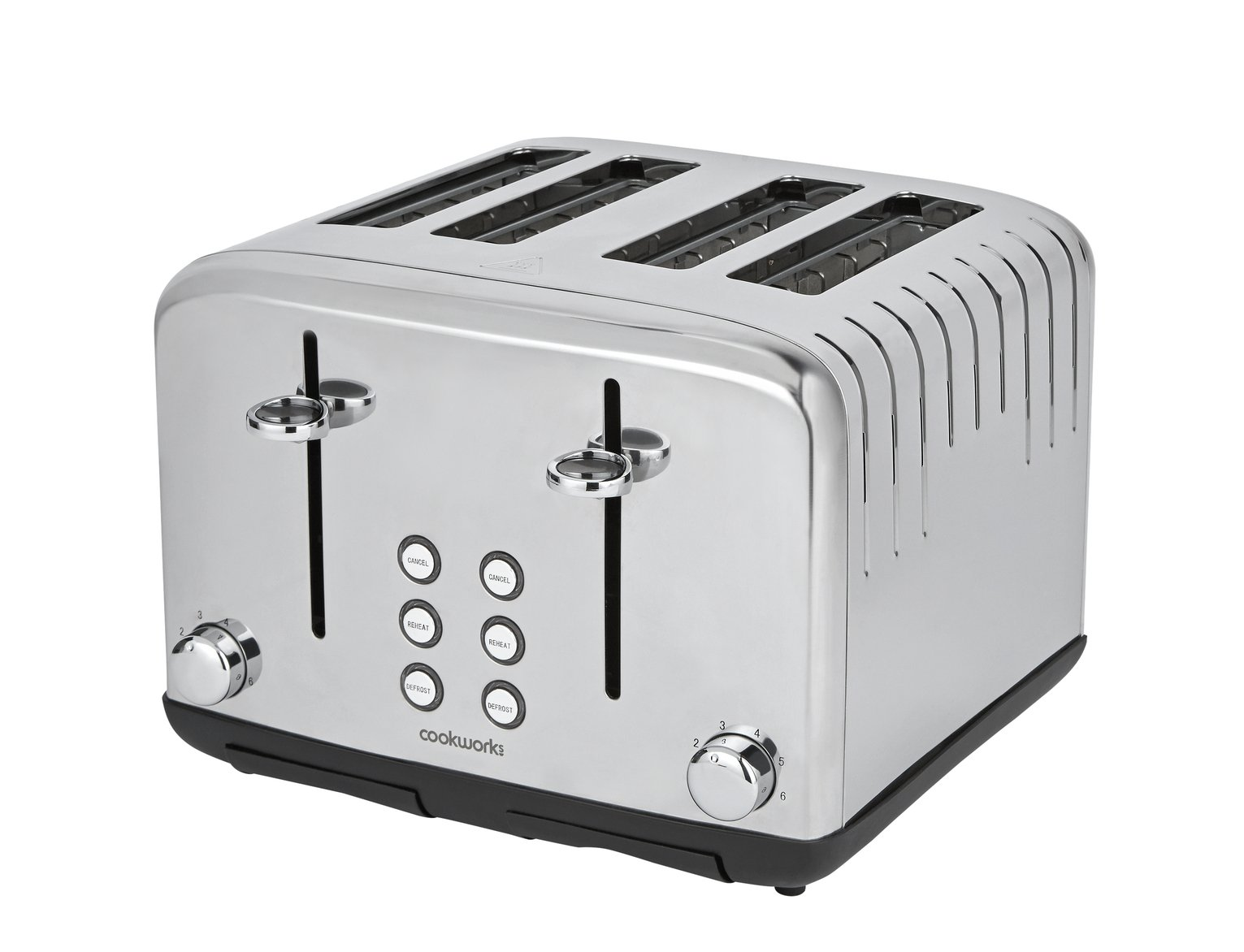Cookworks Pyramid 4 Slice Toaster - Stainless Steel