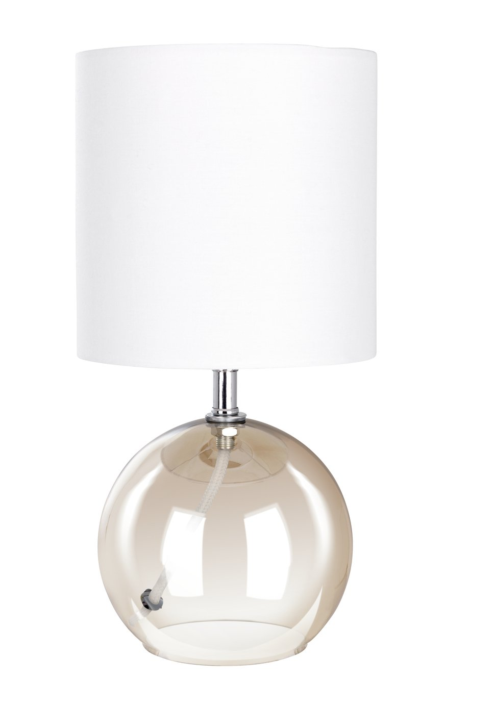 Argos Home Glass Table Lamp - Amber
