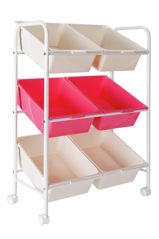 Argos Home 6 Box Storage Unit - Pink & White