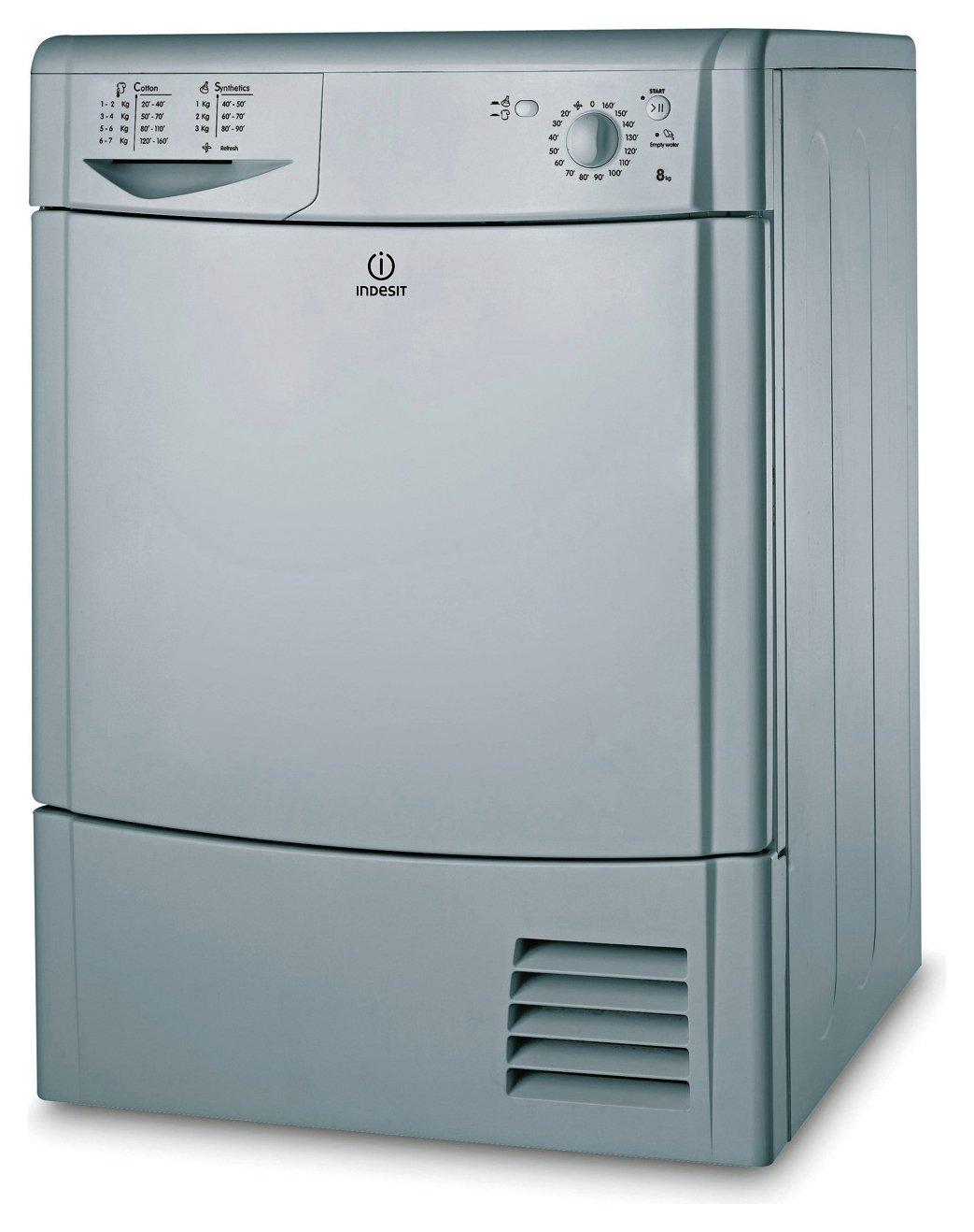 Indesit IDC8T3BS 8KG Condenser Tumble Dryer - Silver