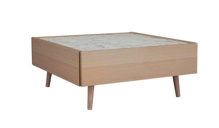 Argos Home Evelyn Coffee Table - Marble & Light Oak Effect