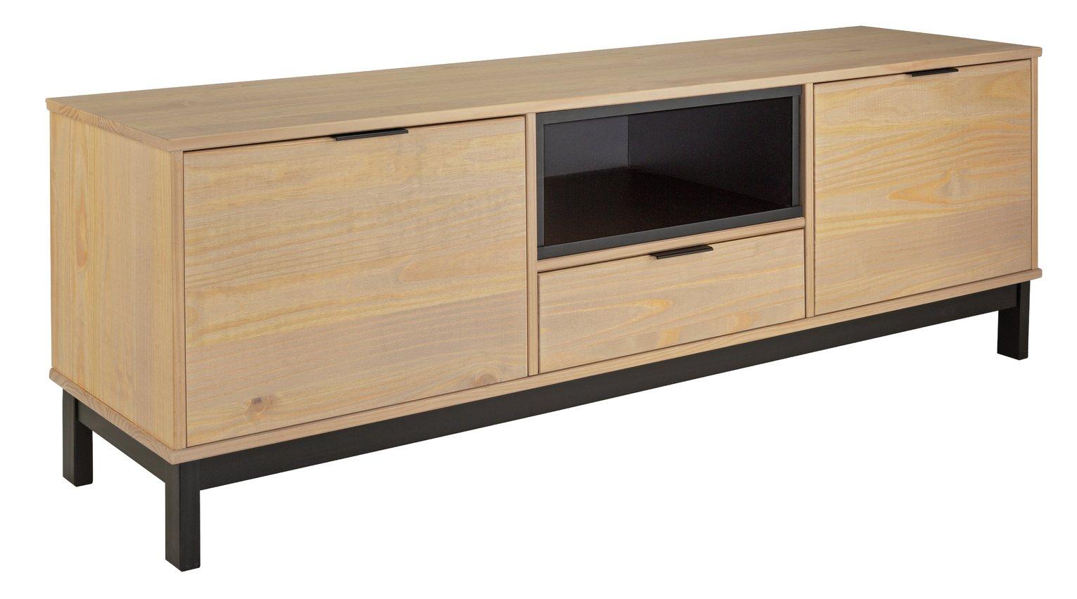 Argos Home Industrial Pine 2 Door 1 Drawer TV Unit - Natural