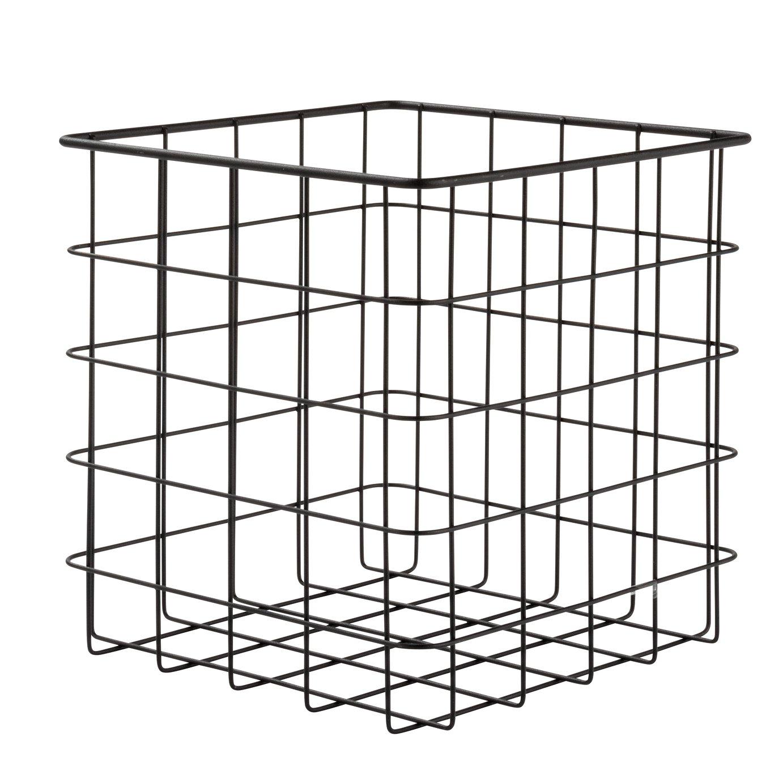 Argos Home Set of 2 Wire Storage Baskets -  Black