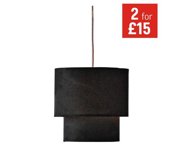 Ceiling Light Shade Argos : Buy home tier suede ceiling shade black at argos