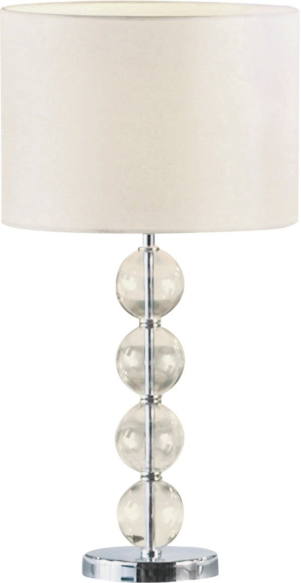 Collection Glass Ball Table Lamp   Ivory