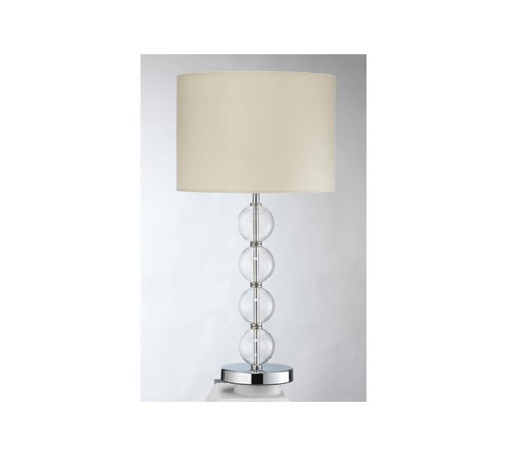 Buy collection glass ball table lamp ivory at argos your collection glass ball table lamp ivory aloadofball Gallery