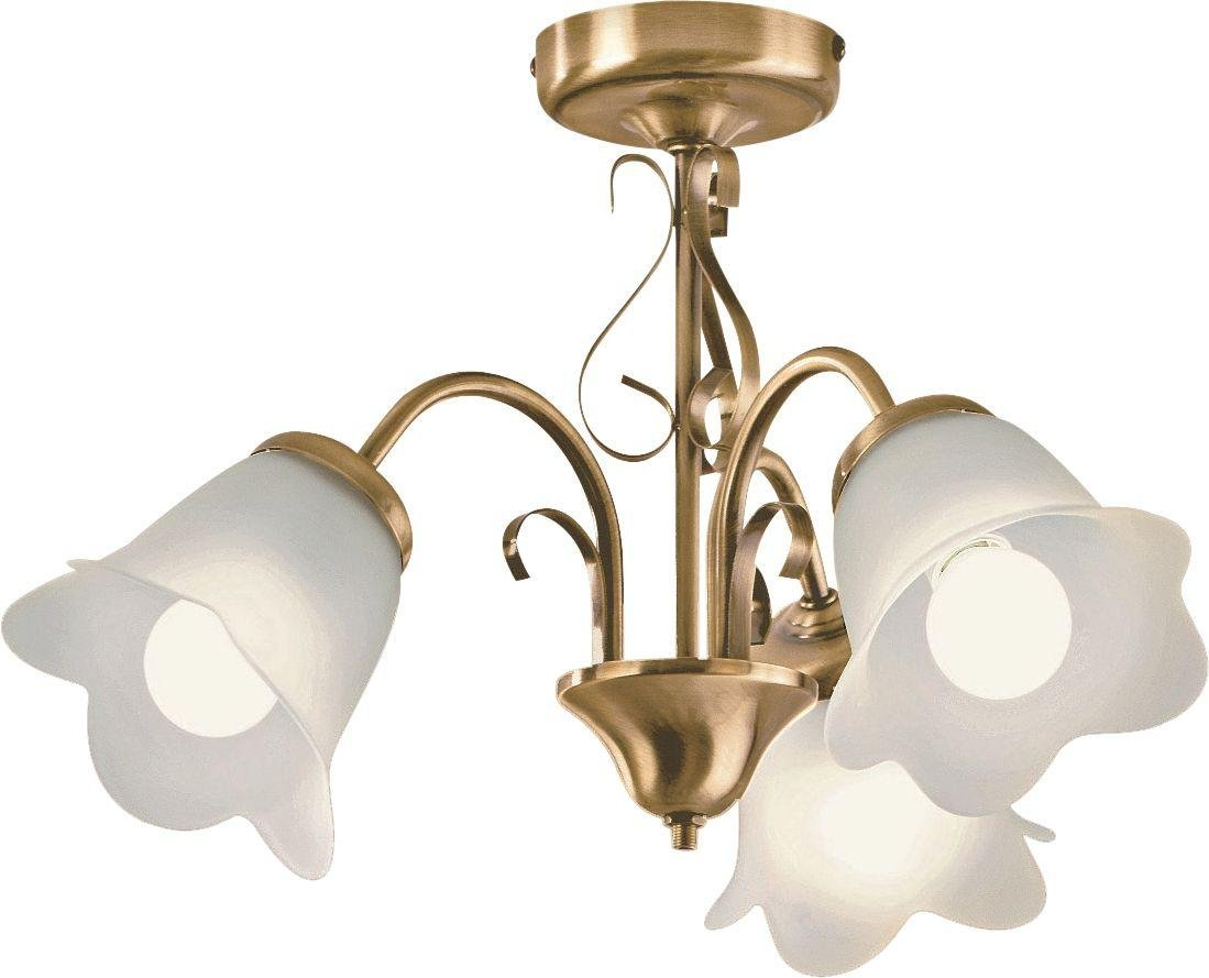 home elise 3 light ceiling fitting antique brass review. Black Bedroom Furniture Sets. Home Design Ideas