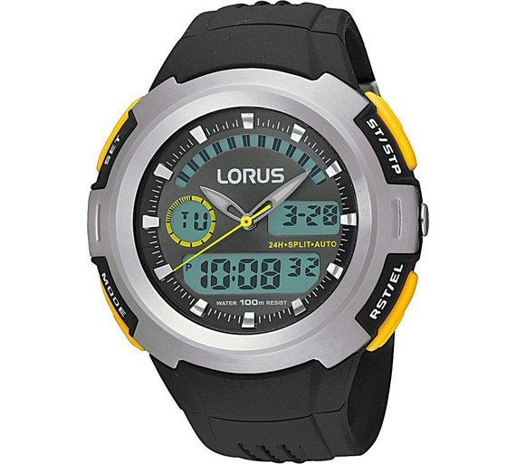 Buy Lorus Mens Dual Time Watch Mens Watches Argos