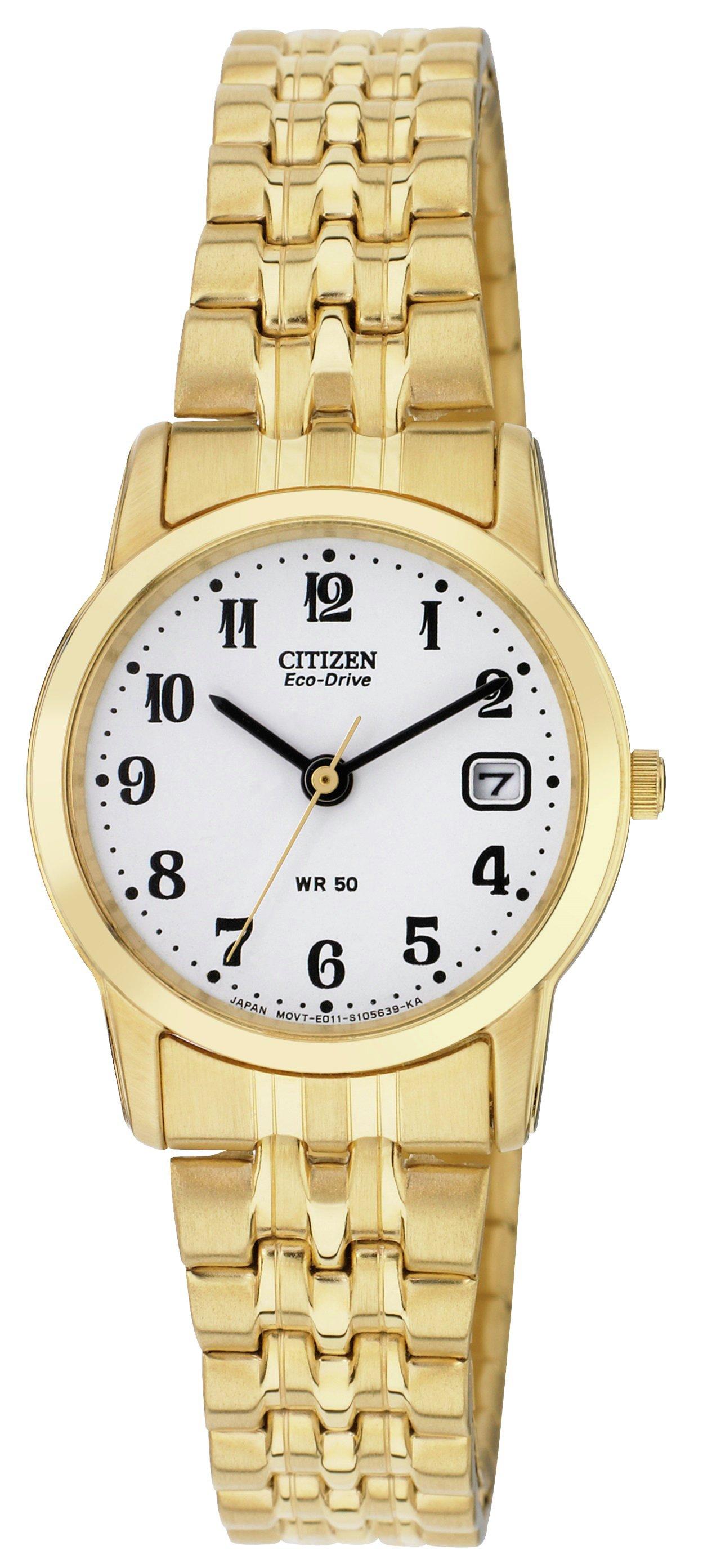 Image of Citizen - Ladies Eco-Drive Gold Tone Expander Bracelet - Watch