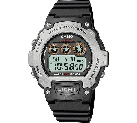 buy casio men s black lcd digital illuminator watch at argos co uk casio men s black lcd digital illuminator watch927 6952