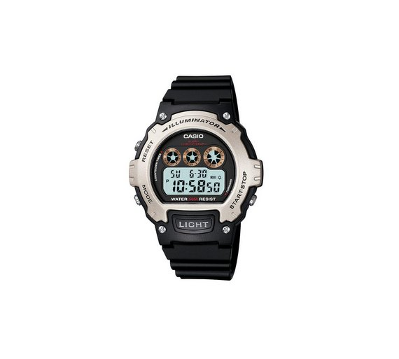 buy casio men s black lcd digital illuminator watch at argos co uk 2 others are looking at this right now