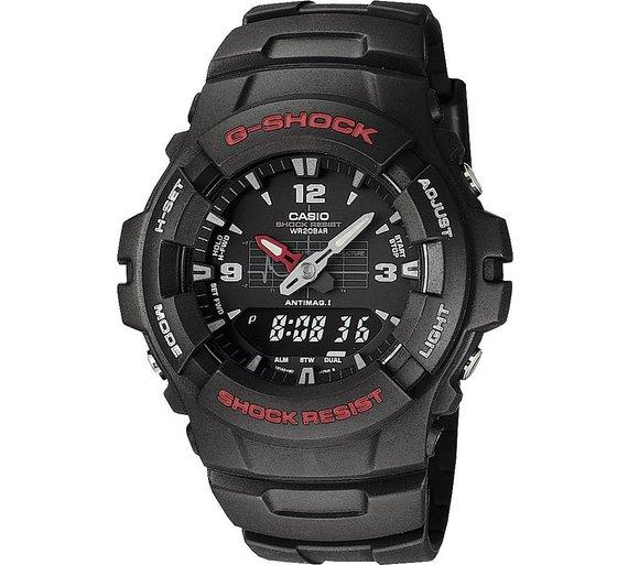 buy g shock by casio men s black combi watch at argos co uk your g shock by casio men s black combi watch927 7126