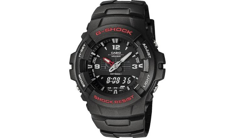 Casio G-Shock Men's Black Resin Strap Combi Watch