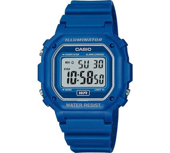 buy casio unisex blue digital illuminator watch men s watches argos