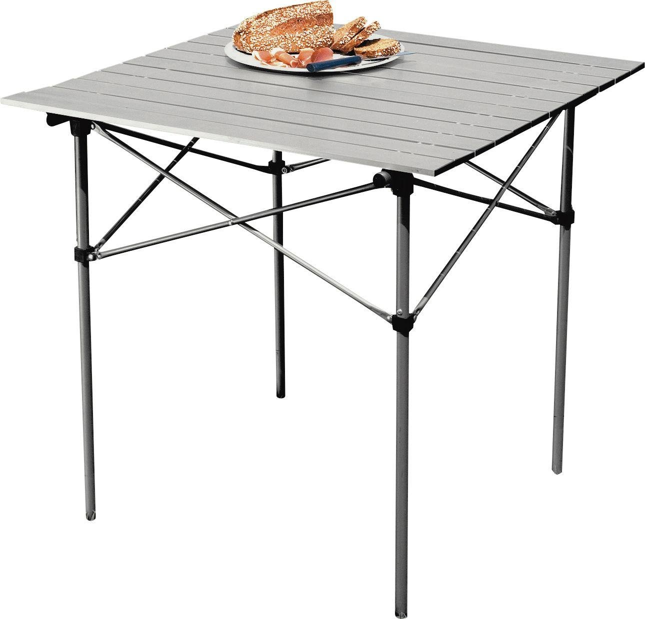 sale on aluminium folding camping table with slatted top. Black Bedroom Furniture Sets. Home Design Ideas