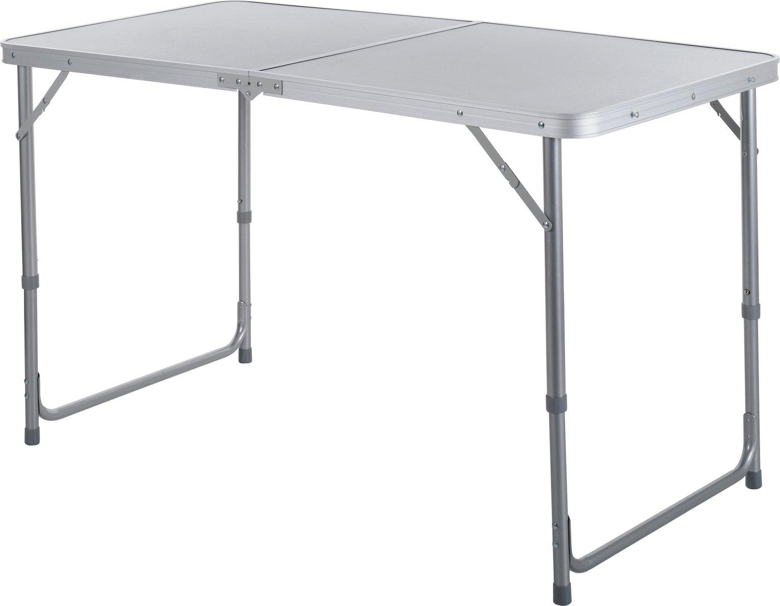Twin Height Folding Aluminium Table - Large