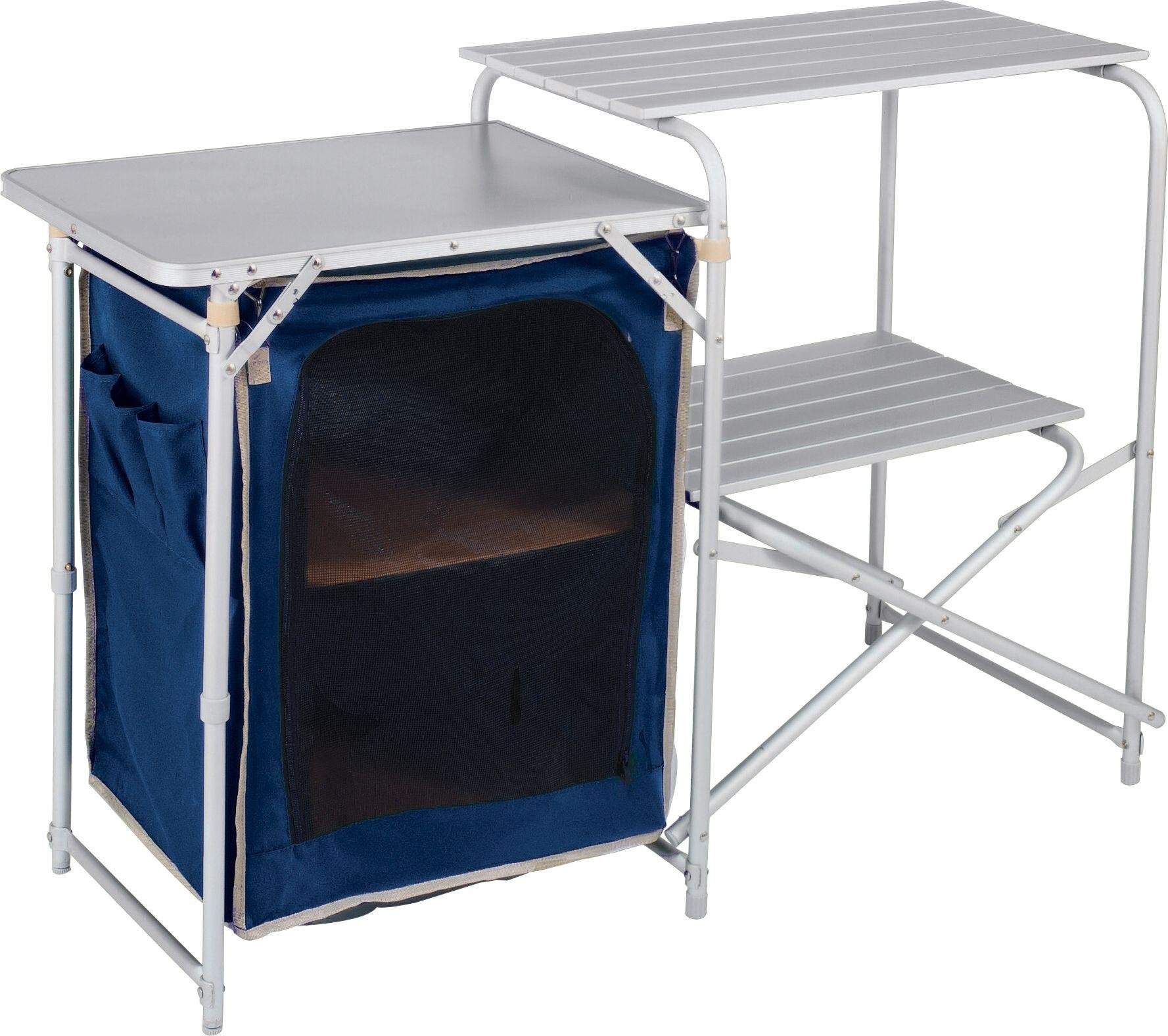 Aluminium camping kitchen and table set for Kitchen set aluminium royal