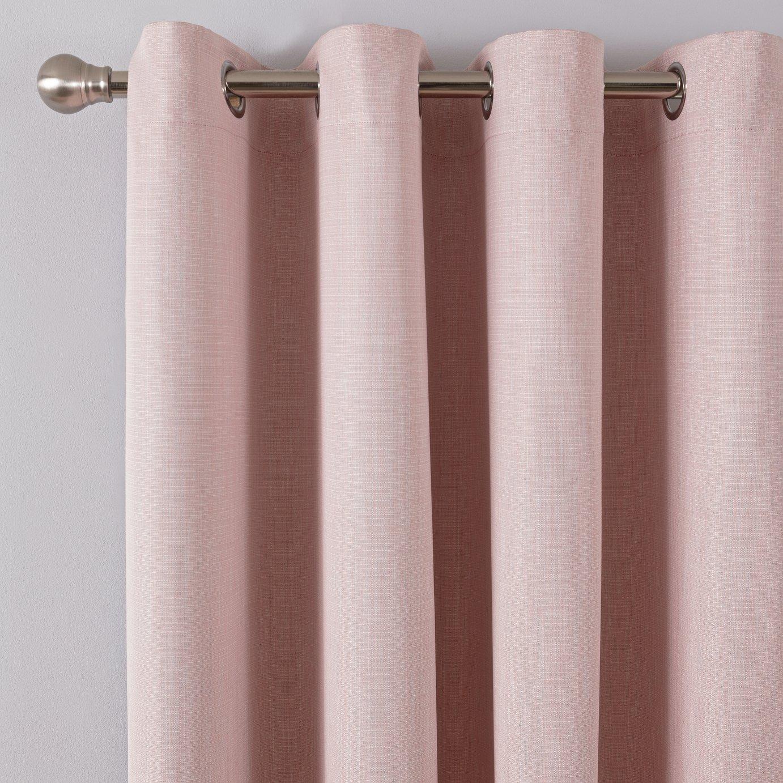 Argos Home Linen Look Eyelet Curtains - Blush