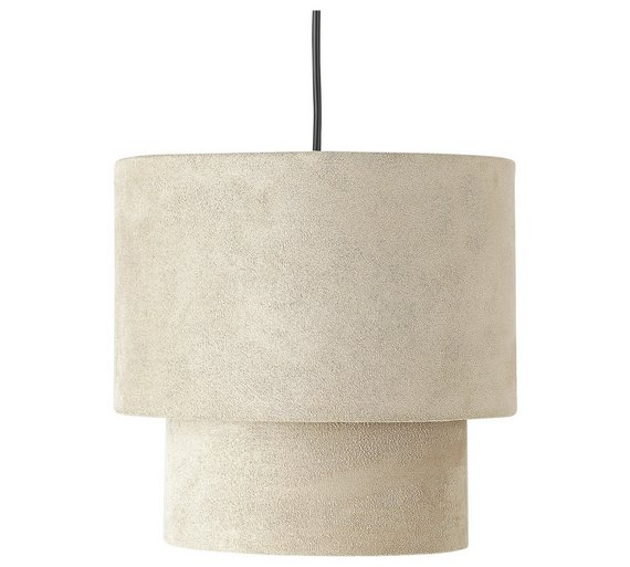 Ceiling Light Shade Argos : Buy home tier suede ceiling shade natural at argos