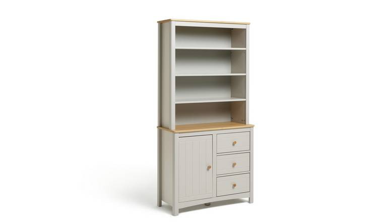 Habitat Bournemouth 3 Drawer Display Cabinet - Light Grey