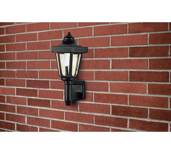 Buy home led solar outdoor wall light black at argos click to zoom mozeypictures Gallery
