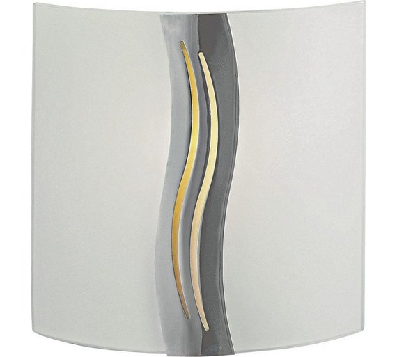 Buy home oasis wall light glass and chrome at argos your home oasis wall light glass and chrome mozeypictures Gallery