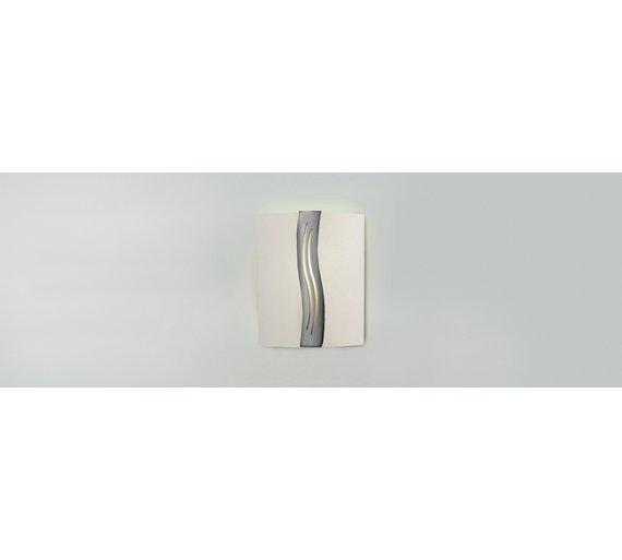 Buy home oasis wall light glass and chrome at argos your click to zoom mozeypictures Gallery