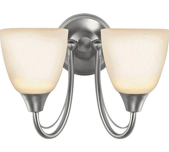 Buy HOME Symphony Twin Wall Light - Silver at Argos.co.uk - Your Online Shop for Ceiling and ...