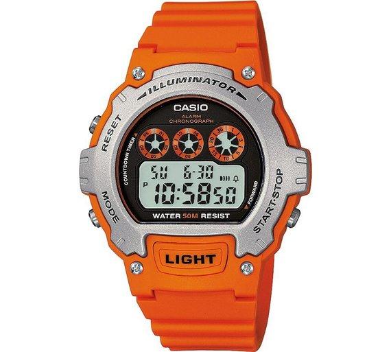 buy casio men s orange illuminator lcd watch at argos co uk your casio men s orange illuminator lcd watch928 5424