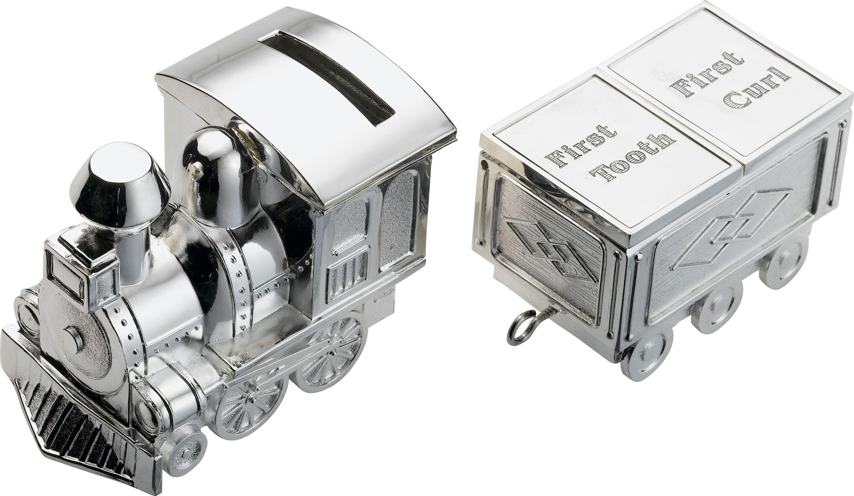 Image of Little Star Silver Plated Train Money Box