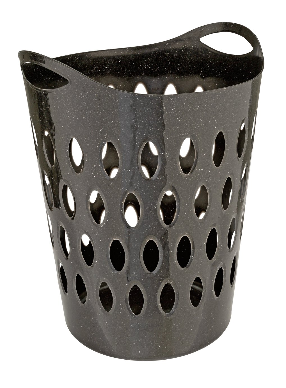Argos Home Flexible Glitter Laundry Basket - Black