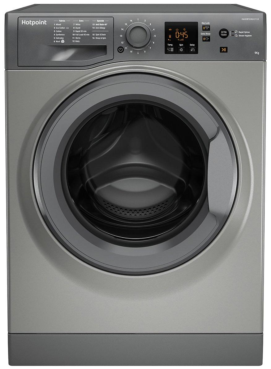 Hotpoint NSWM943CGG 9KG 1400 Spin Washing Machine - Graphite