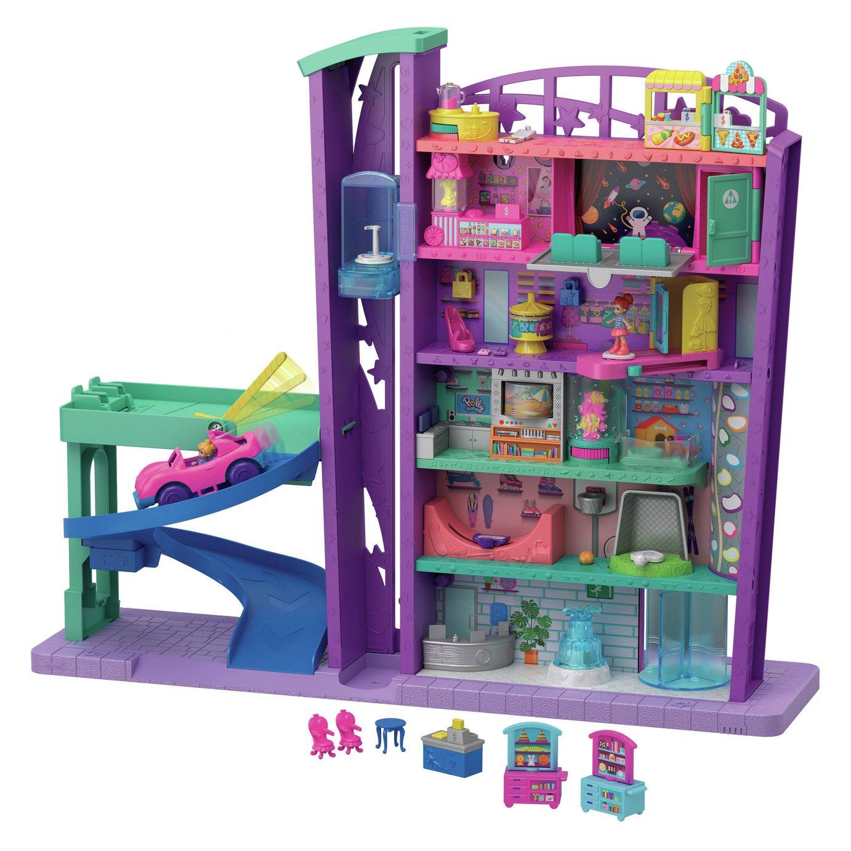 Polly Pocket Mega Mall with Floors & Micro Dolls Girls Toys