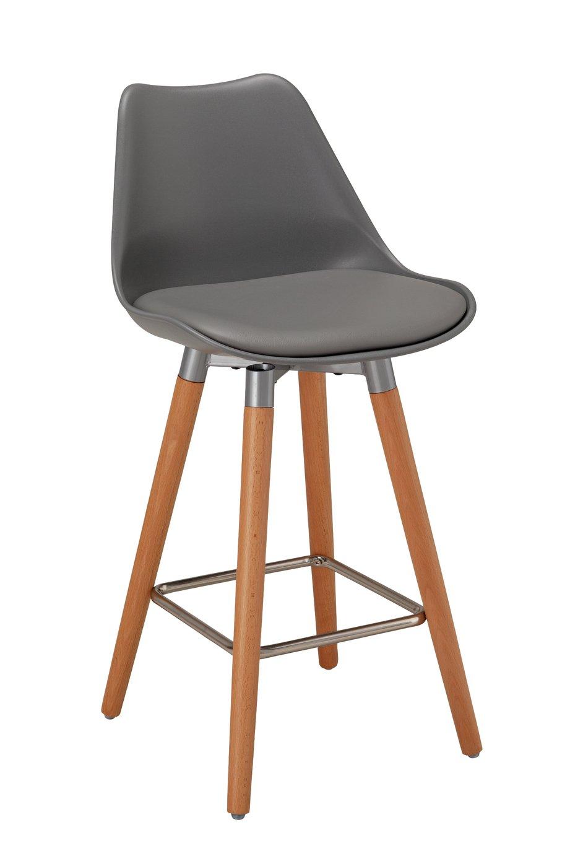 Argos Home Charlie Upholstered Bar Stool - Grey