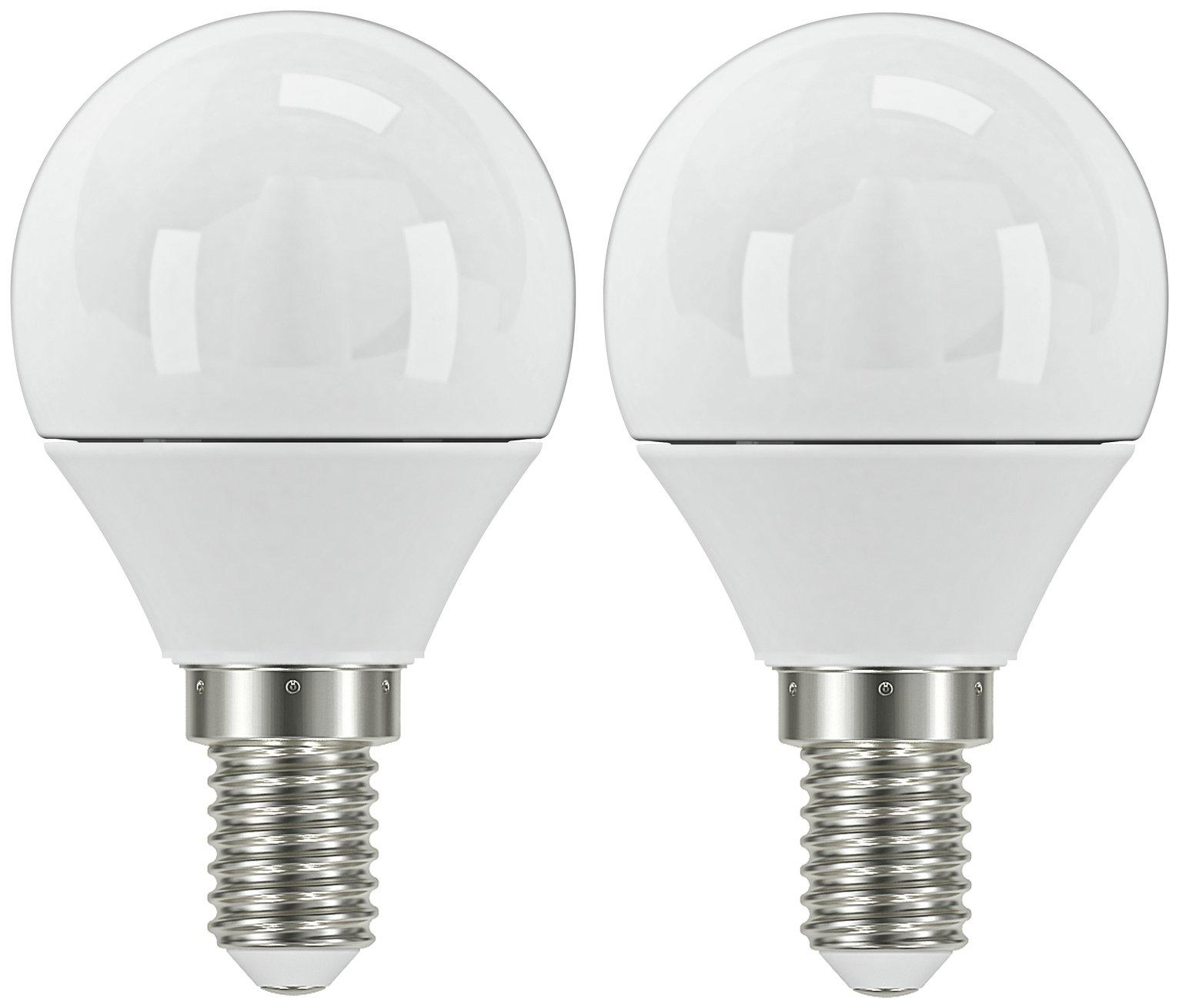 Argos Home 3W LED Mini Globe SES Light Bulb - 2 Pack