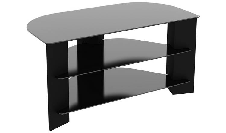 AVF Wood Effect Up To 42 Inch TV Corner Stand - Black