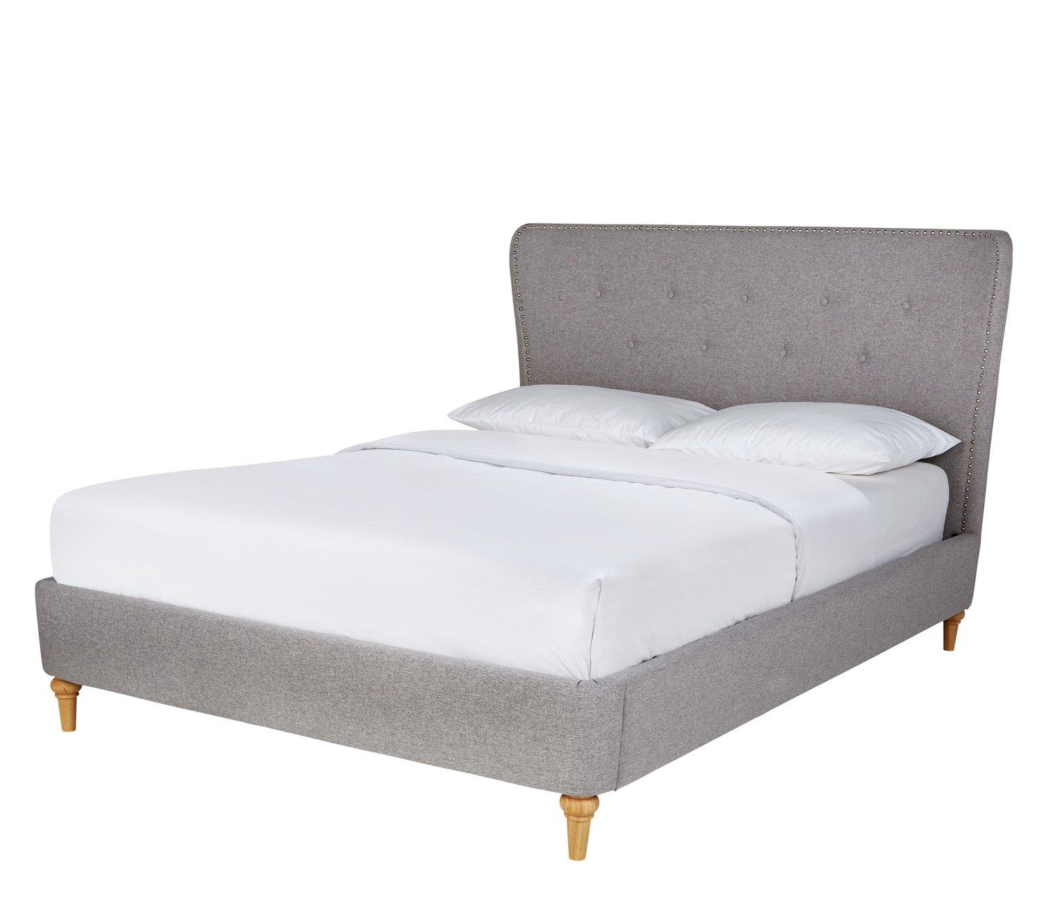 Argos Home Elizabeth Double Bed Frame - Grey