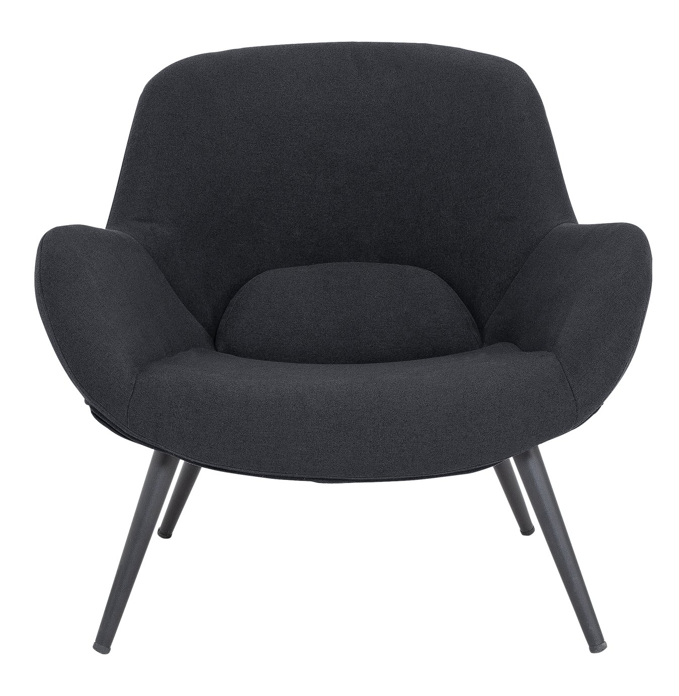 Argos Home Ollie Fabric Accent Chair - Charcoal