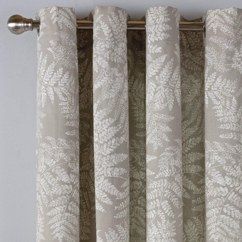 Argos Home Fern Leaf Lined Eyelet Curtains - Grey