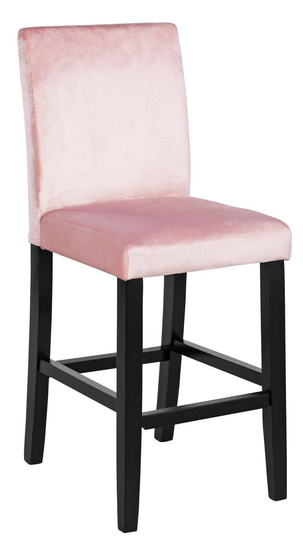 Argos Home Winslow Velvet Bar Stool - Pink