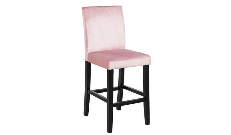 Pleasant Buy Argos Home Winslow Velvet Bar Stool Pink Bar Stools Argos Creativecarmelina Interior Chair Design Creativecarmelinacom