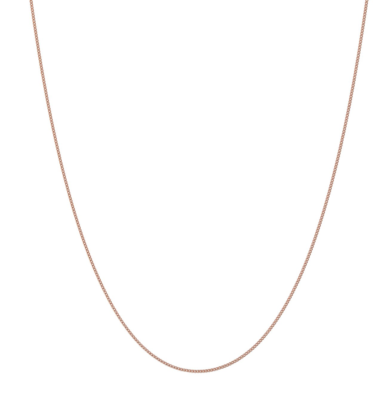 Revere 9ct Rose Gold Fine Curb Chain