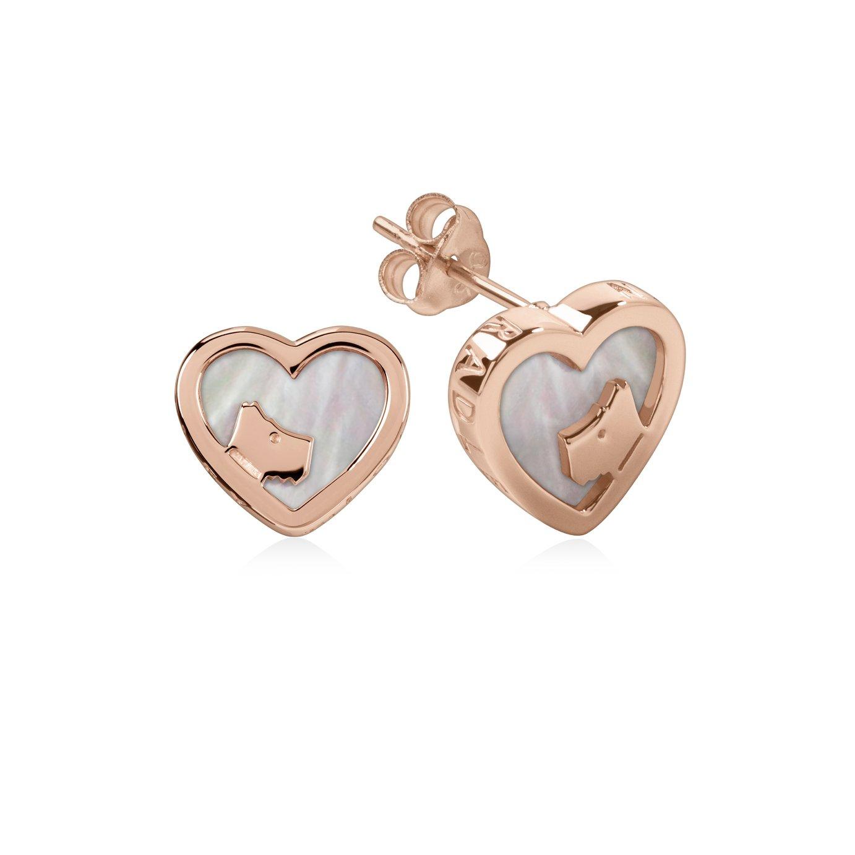 Radley Heart Pearl 18ct Rose Gold Earrings