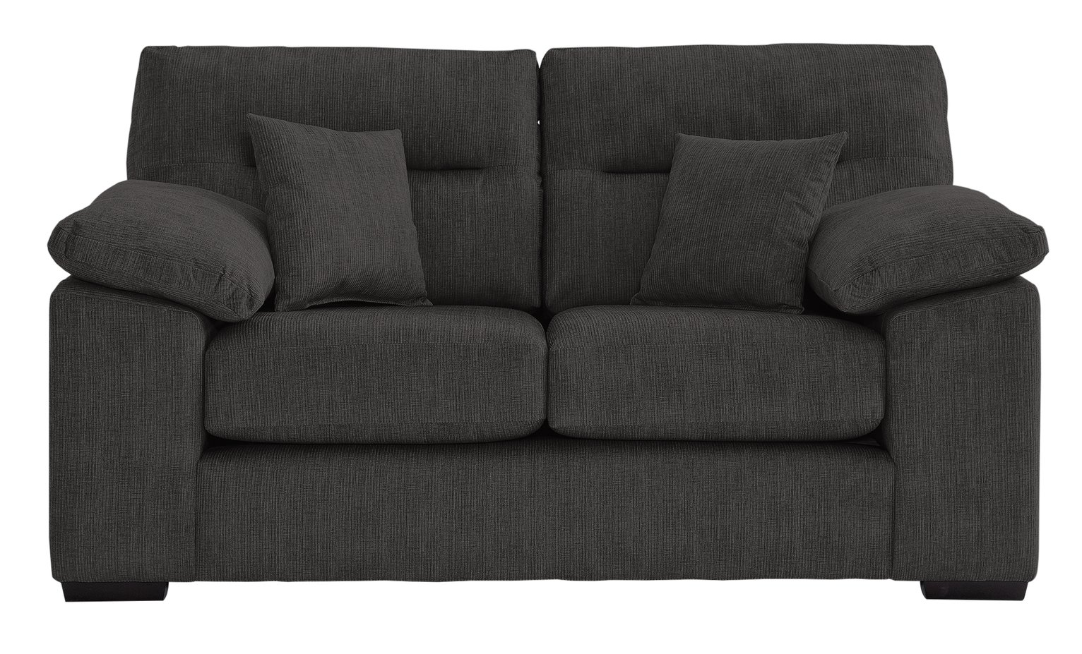 Argos Home Donavan 2 Seater Fabric Sofa - Charcoal