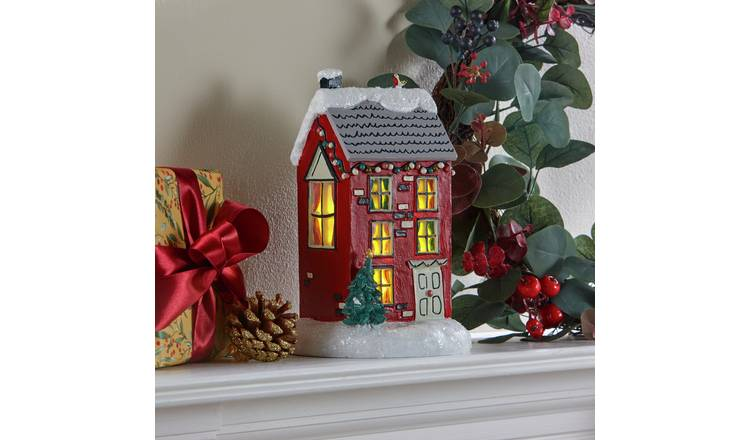 Buy Argos Home Berry Christmas Light Up Large House Christmas Table And Room Decorations Argos