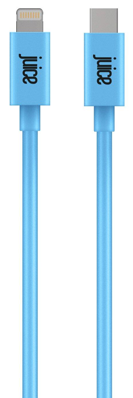 Juice Lightning to USB Type C 2m Charging Cable - Aqua